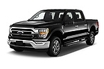 2021 Ford F-150 XLT 4 Door Pick-up Angular Front automotive stock photos of front three quarter view