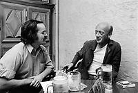 Pierre Valliere et le delateur du FLQ Jean-Jacques Langiault, le 14 juillet 1973<br /> <br /> PHOTO : Alain Renaud - Agence quebec Presse