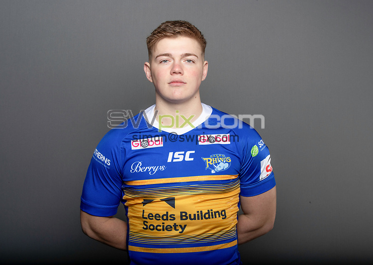 Picture by Paul Currie/SWpix.com - 14/01/2019 - Rugby League - Super League - Leeds Rhinos Media Day Headshots - Callum McLelland
