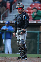 Syracuse Chiefs catcher Jesus Flores #26 in the field during a game against the Buffalo Bisons at Dunn Tire Park on April 7, 2011 in Buffalo, New York.  Syracuse defeated Buffalo 8-5.  Photo By Mike Janes/Four Seam Images
