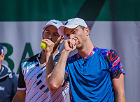 Paris, France, 28 May, 2019, Tennis, French Open, Roland Garros, Men's doubles: Matwe Middelkoop (NED) (R) and Tim Puetz (GER)<br /> Photo: Henk Koster/tennisimages.com