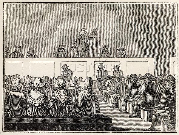 A Quaker meeting     Date: 1835     Source: Nightingale's Religious ceremonies
