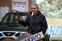 """Paolo Giovannucci (Actor). <br /> <br /> Rome, 03/12/2020. Today, the Nuovo Cinema Palazzo Community held a second public assembly (1.) in Rome's San Lorenzo district to protest against the eviction of the """"Nuovo Cinema Palazzo"""" completed by the Italian police forces in the early morning of the 25th of November and to demonstrate against the violent reaction of the Police forces when, in the evening of the same day, a large demo asked to have the chance to hold a public assembly in the square (Piazza dei Sanniti) of the cinema (2.). The public assembly of today saw the participation and the support & solidarity of the representatives of movements, actors, musicians, students, artists, politicians, and citizens of San Lorenzo who told their stories and memories related to the famous Rome's Art and culture occupation (For example, actor Marcello Fonte, Best Actor Award of the 2018 Cannes Film Festival for the film Dogman, was among the first group of occupiers of the Nuovo Cinema Palazzo). The assembly of the 1st December was interrupted due to the bad weather (3).<br /> The Nuovo Cinema Palazzo was occupied the 15th of April 2011, when citizens, movements, workers of the entertainment industry reopened the former """"Palazzo Cinema"""" to prevent the opening of a casino/gambling space. The illegal occupation was intended as a public hub of art, culture, sport and politics, an open place for exchange, discussion, studies, caring and sharing.<br /> <br /> Footnotes & Links:<br /> 1. http://bit.do/fLCpE<br /> 2. Demo And Clashes Against Nuovo Cinema Palazzo Eviction in Rome's San Lorenzo: http://bit.do/fLxgz<br /> 3. http://bit.do/fLCr3<br /> Previous Stories about Nuovo Cinema Palazzo: 14.04.2018 - Nuovo Cinema Palazzo's Concert: """"7 Anni di CasiNò 