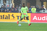 WASHINGTON, DC - MARCH 07: Bill Hamid #24 of D.C. United moves the ball during a game between Inter Miami CF and D.C. United at Audi Field on March 07, 2020 in Washington, DC.