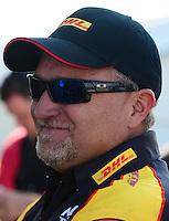 Sept. 23, 2012; Ennis, TX, USA: NHRA funny car driver Jeff Arend during the Fall Nationals at the Texas Motorplex. Mandatory Credit: Mark J. Rebilas-