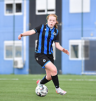 Emely Schapdryver (24) of Club Brugge pictured during a female soccer game between Club Brugge Dames YLA and Standard Femine de Liege on the seventh matchday in Play-Off 1 of the 2020 - 2021 season of Belgian Scooore Womens Super League , saturday 15 May 2021  in Brugge , Belgium . PHOTO SPORTPIX.BE | SPP | DAVID CATRY