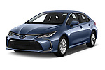 2019 Toyota Corolla Dynamic 4 Door Sedan angular front stock photos of front three quarter view