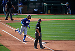 Chris Taylor runs the bases during a spring training game between the Texas Rangers and Los Angeles Dodgers in Surprise, Ariz., on Sunday, March 7, 2021.<br /> Photo by Cathleen Allison