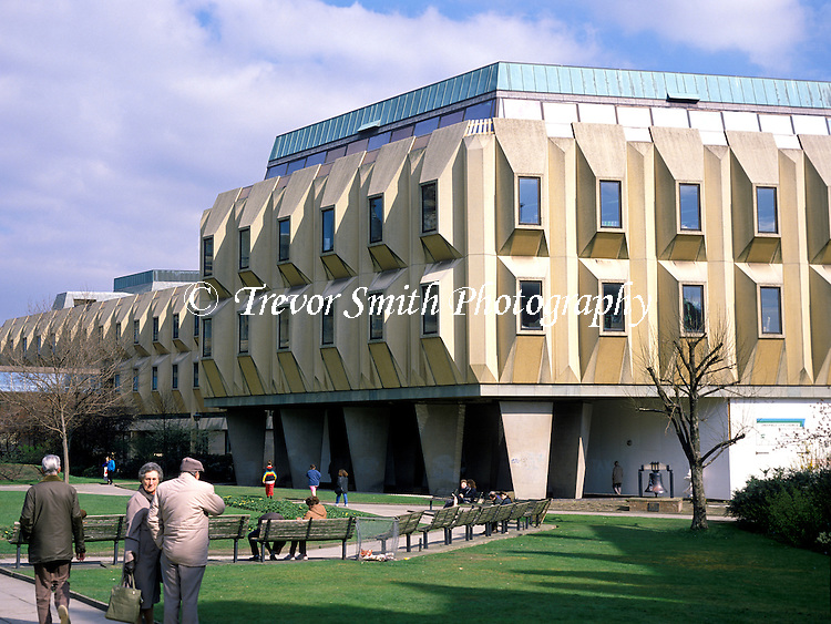 The now demolished 'Egg Box' adjoining Sheffield Town Hall in the County of South Yorkshire. Demolished in  2001-02 the Eggboxes made way for the Winter Garden, St Paul's complex, and the new Peace Gardens with the Goodwin fountain