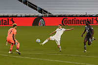 ST PAUL, MN - NOVEMBER 4: Przemyslaw Frankowski #11 of Chicago Fire FC takes a shot towards Dayne St. Clair #97 of Minnesota United FC during a game between Chicago Fire and Minnesota United FC at Allianz Field on November 4, 2020 in St Paul, Minnesota.