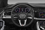 Car pictures of steering wheel view of a 2019 Audi Q8 S Line 5 Door SUV