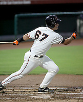 Buster Posey / AZL Giants playing against the Rangers at Scottsdale Stadium in his professional debut - 08/22/2008. Posey singled in his first at bat...Photo by:  Bill Mitchell/Four Seam Images