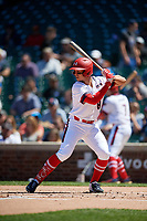 Drew Romo (8) during the Under Armour All-America Game, powered by Baseball Factory, on July 22, 2019 at Wrigley Field in Chicago, Illinois.  Drew Romo attends The Woodlands High School in The Woodlands, Texas and is committed to LSU.  (Mike Janes/Four Seam Images)