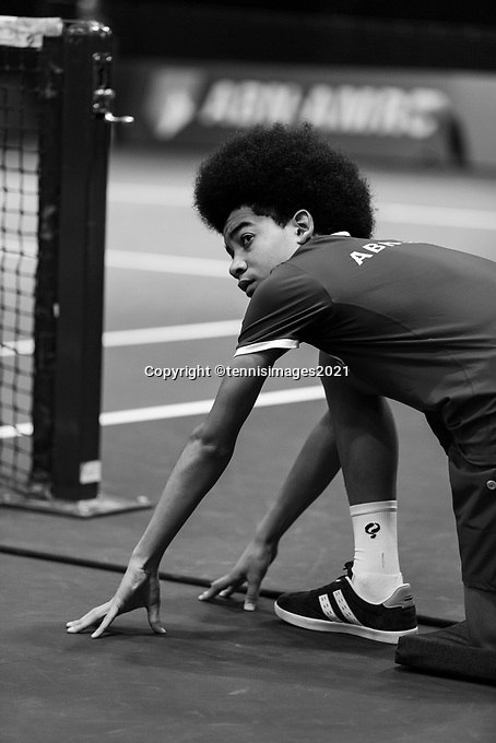Rotterdam, The Netherlands, 5 march  2021, ABNAMRO World Tennis Tournament, Ahoy,  Ballkid. Photo: www.tennisimages.com/