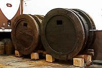 Fermentation tanks. Ancient medieval vats. Vallformosa, Vilobi, Penedes, Catalonia, Spain
