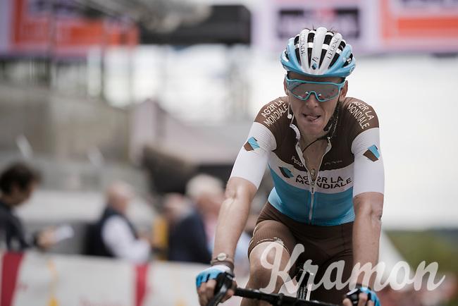 Romain Bardet (FRA/AG2R-La Mondiale) crossing the finish line<br /> <br /> 83rd La Flèche Wallonne 2019 (1.UWT)<br /> One day race from Ans to Mur de Huy (BEL/195km)<br /> <br /> ©kramon