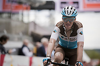 Romain Bardet (FRA/AG2R-La Mondiale) crossing the finish line<br /> <br /> 83rd La Flèche Wallonne 2019 (1.UWT)<br /> One day race from Ans to Mur de Huy (BEL/195km)<br /> <br /> ©kramon