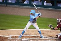 Caleb Roberts (11) of the North Carolina Tar Heels at bat against the South Carolina Gamecocks at Truist Field on April 6, 2021 in Charlotte, North Carolina. (Brian Westerholt/Four Seam Images)
