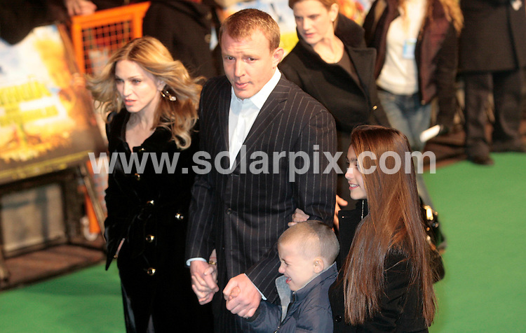 **ALL ROUND PICTURES FROM SOLARPIX.COM**.**NO UK NEWSPAPER PUBLICATION **UK MAGAZINE & SUPPLEMENT PUBLICATION ONLY** AND NO PUBLICATION IN FRANCE, SCANDINAVIA, AUSTRALIA AND GERMANY** .The pop singer Madonna and her husband Guy Richie have announced their divorce after 8 years of marriage today..This pic: Madonna and Guy Ritchie and children..JOB REF: 7589- SFE       DATE: 15_10_08.**MUST CREDIT SOLARPIX.COM OR DOUBLE FEE WILL BE CHARGED* *UNDER NO CIRCUMSTANCES IS THIS IMAGE TO BE REPRODUCED FOR ANY ONLINE EDITION WITHOUT PRIOR PERMISSION*