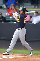 Beloit Snappers Justin Higley (23) swings during the Midwest League game against the Clinton LumberKings at Ashford University Field on June 12, 2016 in Clinton, Iowa.  The LumberKings won 1-0.  (Dennis Hubbard/Four Seam Images)