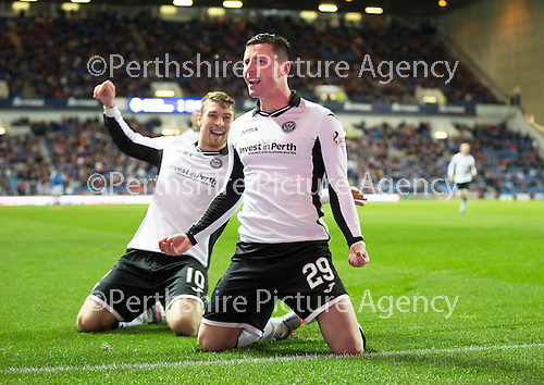 Rangers v St Johnstone...22.09.15  Scottish League Cup Round 3, Ibrox Stadium<br /> Michael O'Halloran celebrates making it 3-0<br /> Picture by Graeme Hart.<br /> Copyright Perthshire Picture Agency<br /> Tel: 01738 623350  Mobile: 07990 594431