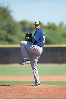 Milwaukee Brewers relief pitcher Wilber Diaz (71) delivers a pitch during an Instructional League game against the San Diego Padres at Peoria Sports Complex on September 21, 2018 in Peoria, Arizona. (Zachary Lucy/Four Seam Images)