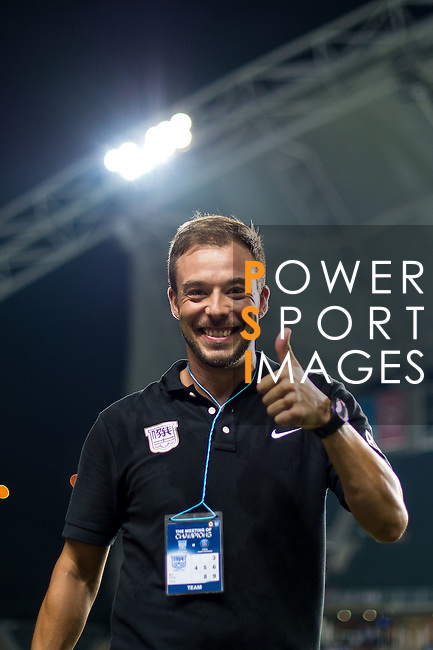 Kitchee SC second coach Roberto Losada react during Kitchee SC vs Paris Saint-Germain during the The Meeting of Champions on July 29, 2014 at the Hong Kong stadium in Hong Kong, China.  Photo by Aitor Alcalde / Power Sport Images