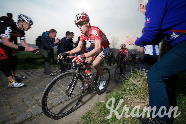 Jurgen Roelandts (BEL/Lotto-Belisol) up the Paterberg (max 20%)<br /> <br /> <br /> 57th E3 Harelbeke 2014