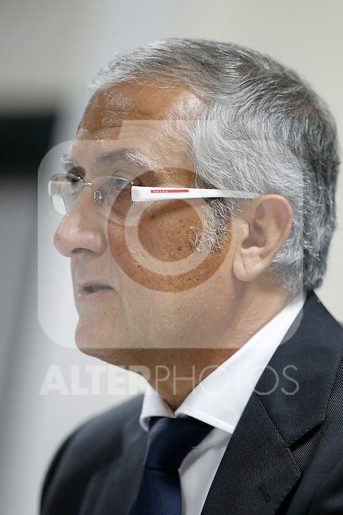 Atletico de Madrid's coach Gregorio Manzano in press conference during La Liga match.November 6,2011. (ALTERPHOTOS/Acero)