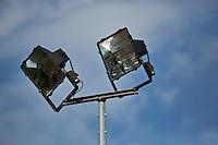 August 12, 2014, Netherlands, Raalte, TV Ramele, Tennis, National Championships, NRTK,  Floodlights on tenniscourt<br /> Photo: Tennisimages/Henk Koster