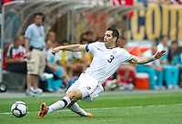 USA's Carlos Bocanegra slides for a ball during an international friendly tune up match against Turkey for the 2010 World Cup, at Lincoln Financial Field, in Philadelphia, PA, Saturday, May 29, 2010. USA defeated Turkey 2-1.
