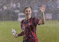 EAST HARTFORD, CT - JULY 1: Abby Dahlkemper #17 of the USWNT waves to fans during a game between Mexico and USWNT at Rentschler Field on July 1, 2021 in East Hartford, Connecticut.