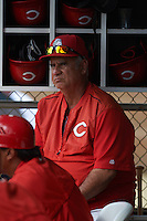 Cincinnati Reds pitching coach Tony Fossas during an instructional league game against the Los Angeles Dodgers on October 20, 2015 at Cameblack Ranch in Glendale, Arizona.  (Mike Janes/Four Seam Images)