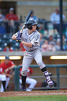 Grand Junction Rockies Christian Koss (36) at bat during a Pioneer League game against the Billings Mustangs at Dehler Park on August 14, 2019 in Billings, Montana. Grand Junction defeated Billings 8-5. (Zachary Lucy/Four Seam Images)