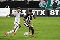 Rio de Janeiro (RJ), 01/08/2020 - Botafogo-Fluminense - Evanilson (e) e Caio Alexandre (d). Partida amistosa entre Botafogo e Fluminense, realizada no Estádio Nilton Santos (Engenhão), na zona norte do Rio de Janeiro,  neste sábado (01).