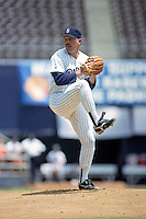 San Diego Padres pitcher Craig Lefferts during a game against the Philadelphia Phillies circa 1992 at San Diego Jack Murphy Stadium  in San Diego, California.  (MJA/Four Seam Images)