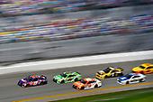 2017 NASCAR Cup - Clash at Daytona<br /> Daytona International Speedway, Daytona Beach, FL USA<br /> Sunday 19 February 2017<br /> Daniel Suarez, ARRIS Toyota Camry, Matt Kenseth, Interstate Batteries Toyota Camry and Denny Hamlin, FedEx Express Toyota Camry restart<br /> World Copyright: Nigel Kinrade/LAT Images<br /> <br /> ref: Digital Image 17DAY1nk04793