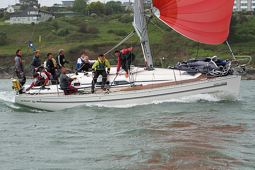 Cruiser racing off Cork in the Elan 333, Artful Dodger