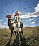 Knit fashion with alpacas at the Birdsong Ranch in Larkspur, Colo., on November  16, 2006.  (ELLEN JASKOL/ROCKY MOUNTAIN NEWS).**