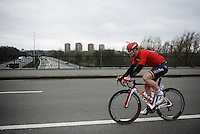 André Greipel (DEU/Lotto-Soudal) crossing the highway<br /> <br /> 104th Scheldeprijs 2016
