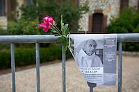 St Etienne 28/7/2016 Commemorazione solenne di Jacques Hamel, il parroco ucciso a St Etienne.<br /> Foto Stephen Caillet / Panoramic / Insidefoto