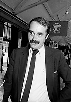 Dorval (Qc) CANADA - August 24, 1984 File Photo- EXCLUSIVE-<br />  Nick Auf Der Maur in the 1984 federal election.