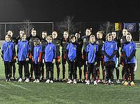 Belgium - Austria : Belgisch elftal tijdens de hymne.foto DAVID CATRY / Vrouwenteam.be