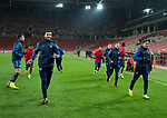 07.11.18 Rangers training at the Spartak Stadium, Moscow: Connor Goldson and James Tavernier