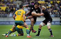 NZ's Ofa Tuungafasi in action during the Bledisloe Cup rugby union match between the New Zealand All Blacks and Australia Wallabies at Sky Stadium in Wellington, New Zealand on Sunday, 11 October 2020. Photo: Dave Lintott / lintottphoto.co.nz