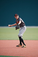 William Thorp (57), from Fort Myers, Florida, while playing for the Giants during the Baseball Factory Pirate City Christmas Camp & Tournament on December 29, 2017 at Pirate City in Bradenton, Florida.  (Mike Janes/Four Seam Images)