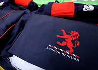 London Scottish kit shorts during the Greene King IPA Championship match between London Scottish Football Club and Bedford Blues at Richmond Athletic Ground, Richmond, United Kingdom on 23 December 2017. Photo by Mark Kerton / PRiME Media Images.