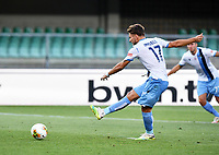Ciro Immobile of SS Lazio scores a goal during the Serie A football match between Hellas Verona and SS Lazio at stadio Marcantonio Bentegodi in Verona (Italy), July 26th, 2020. Play resumes behind closed doors following the outbreak of the coronavirus disease. <br /> Photo Daniele Buffa / Image Sport / Insidefoto