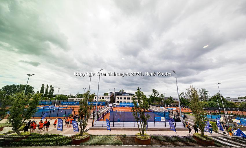 Amstelveen, Netherlands, 6 Juli, 2021, National Tennis Center, NTC, Amstelveen Womans Open, Overall vieuw<br /> Photo: Henk Koster/tennisimages.com