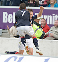 21/08/2010   Copyright  Pic : James Stewart.sct_jsp007_falkirk_v_stirling_alb  .:: MARK TWADDLE IS CONGRATULATED BY MARK STEWART AFTER HE SCORES THE FIRST :: .James Stewart Photography 19 Carronlea Drive, Falkirk. FK2 8DN      Vat Reg No. 607 6932 25.Telephone      : +44 (0)1324 570291 .Mobile              : +44 (0)7721 416997.E-mail  :  jim@jspa.co.uk.If you require further information then contact Jim Stewart on any of the numbers above.........
